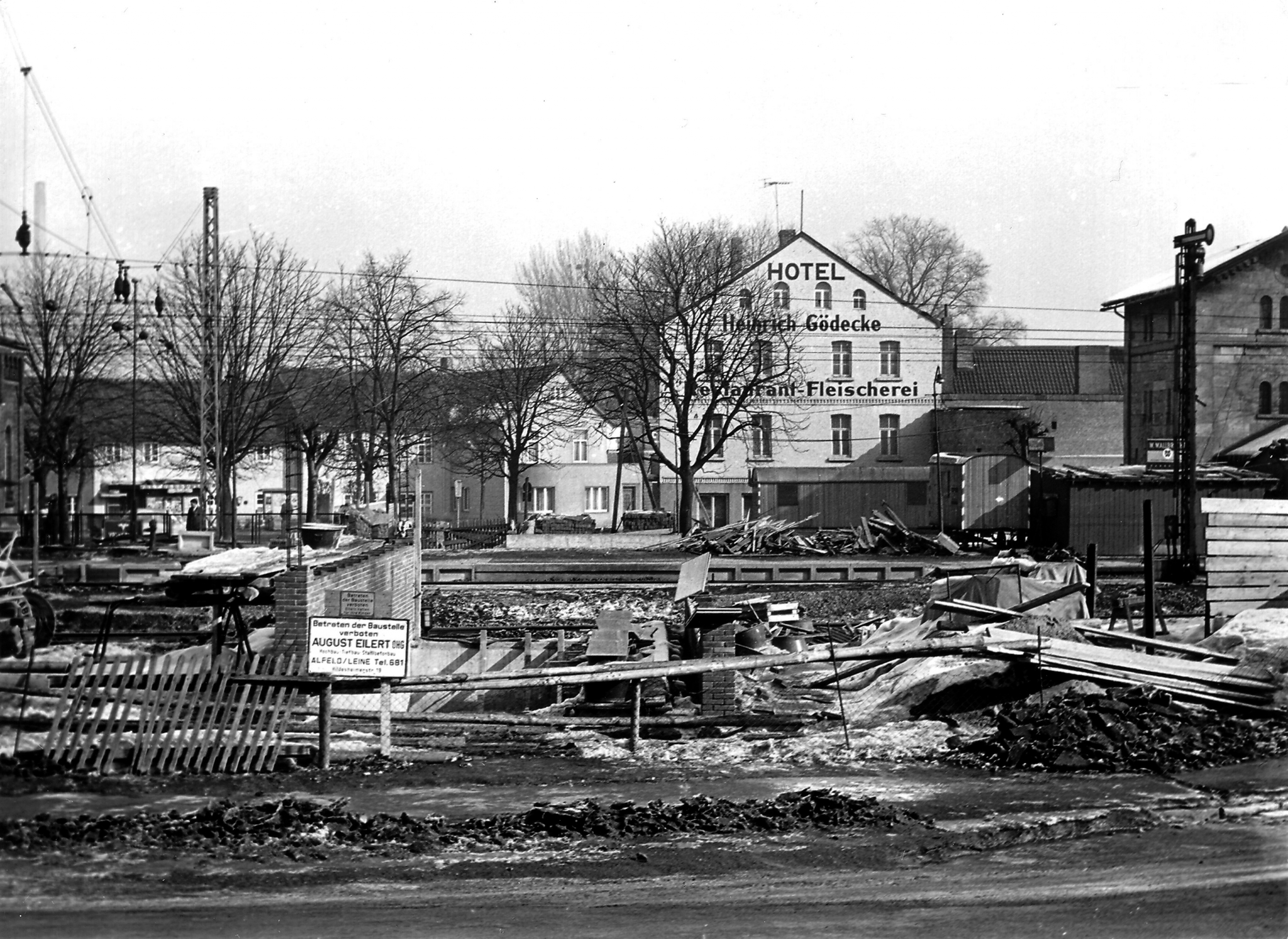HannoverscheStr1960er-04-BauUnterführungBahnhof