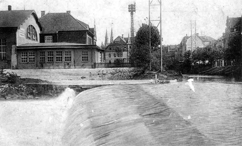 Leine1927-01-Wehr