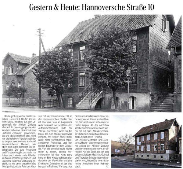 AZ vom 06.02.2014-gestern+heute-Hannoversche Straße Nr. 10