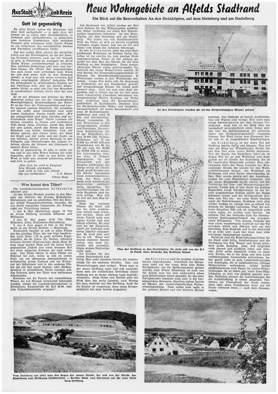 AZ vom 11.06.1960-Steinköpfen-Neue Wohngebiete An den Steinköpfen