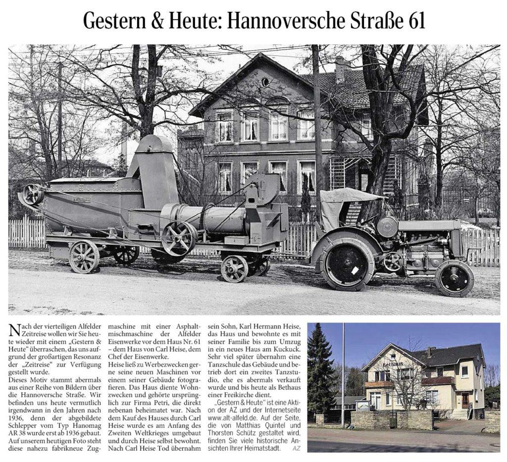 AZ vom 13.03.2014-gestern+heute-Hannoversche Straße 61
