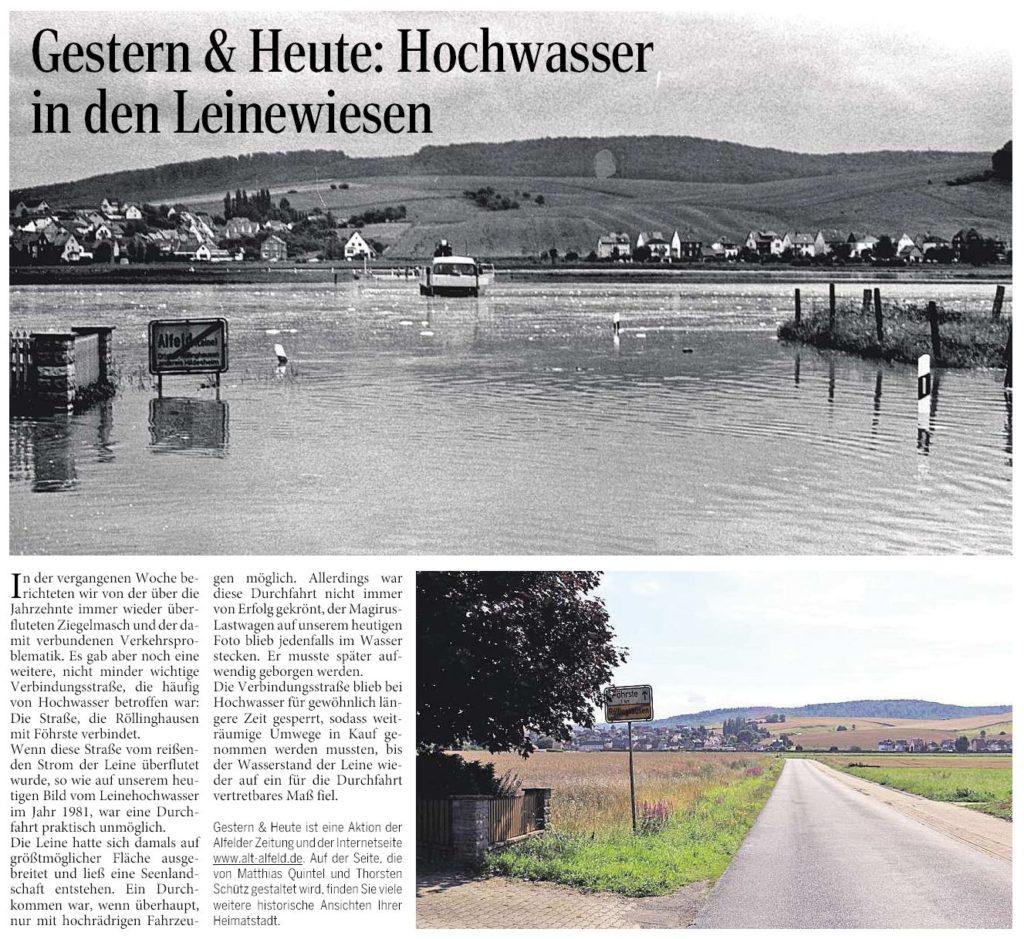 AZ vom 15.10.2015-gestern+heute-Hochwasser Leinewiesen