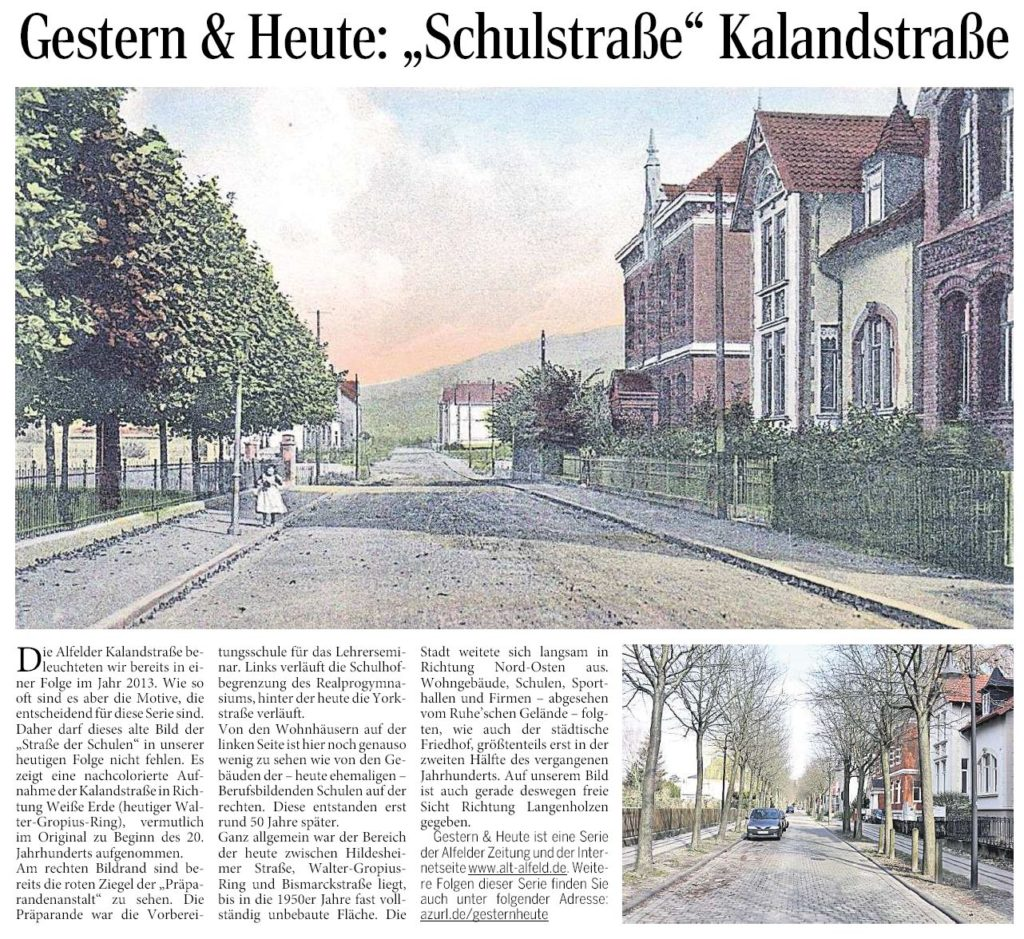 AZ vom 17.03.2016-gestern+heute-Schulstraße Kalandstraße