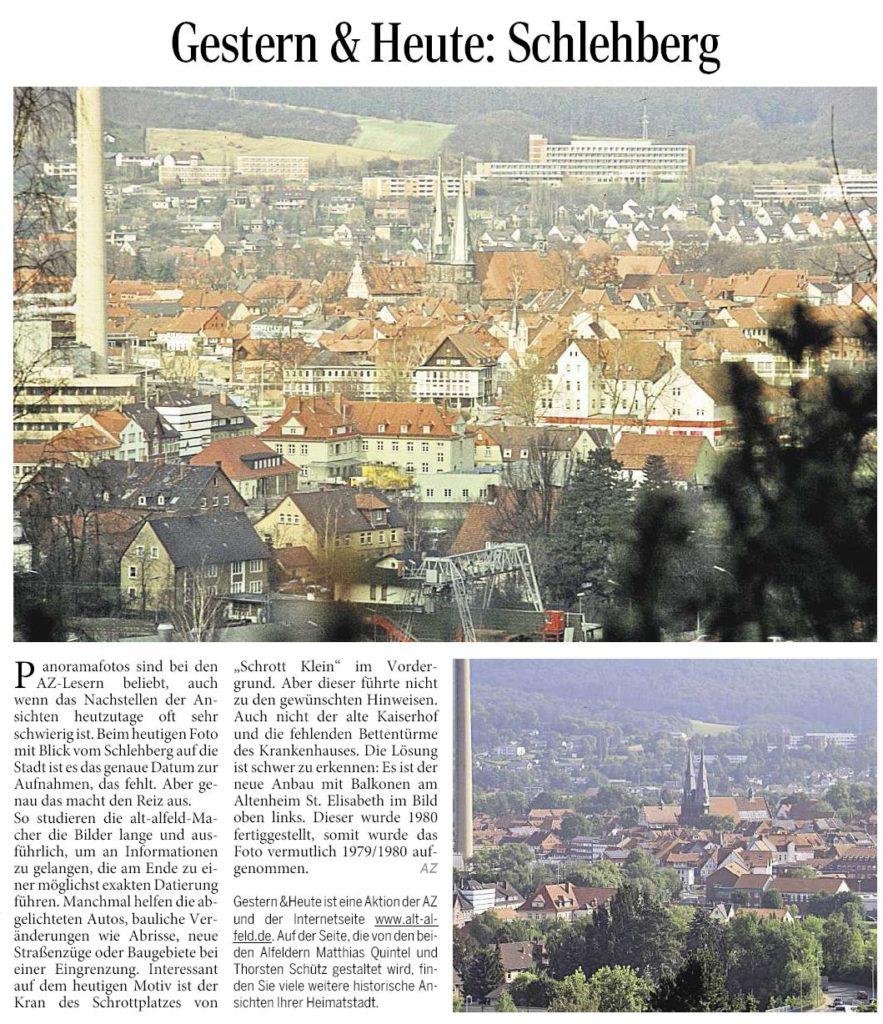 AZ vom 18.09.2014-gestern+heute-Schlehberg