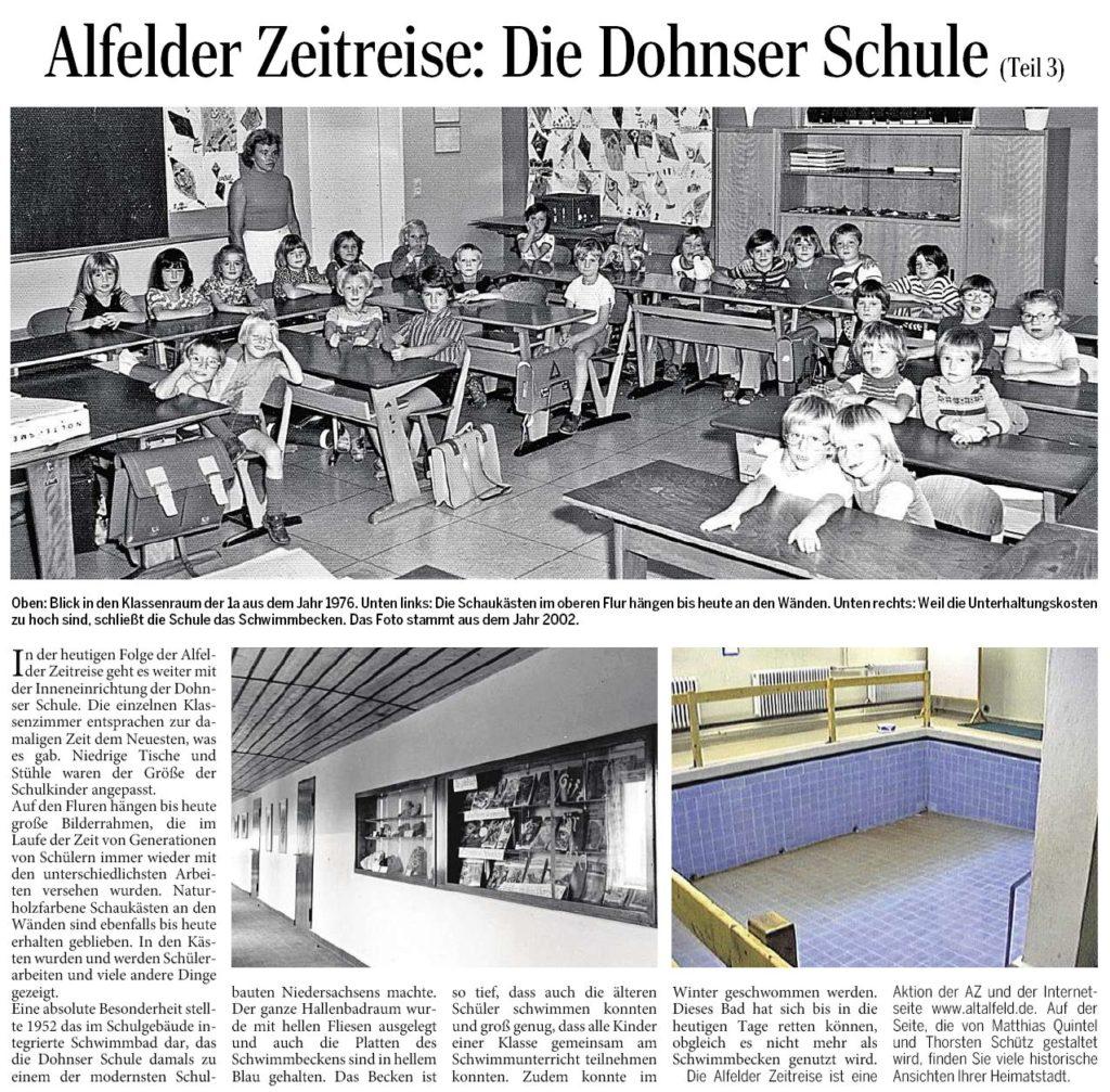 AZ vom 18.12.2014-Alfelder Zeitreise-Dohnser Schule - Teil 3