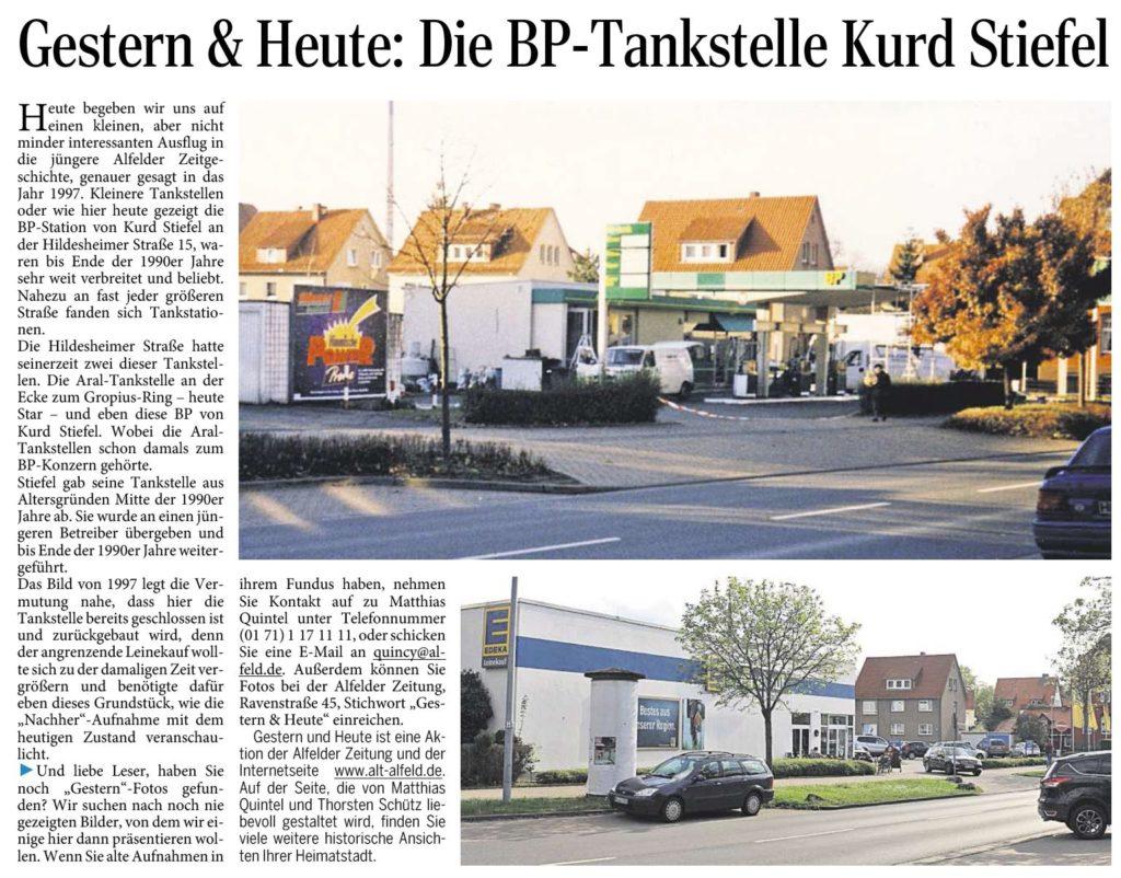 AZ vom 21.05.2015-gestern+heute-BP-Tankstelle Kurd Stiefel