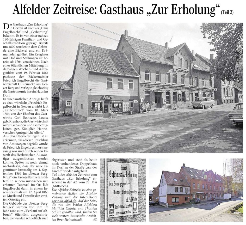 AZ vom 22.5.2014-Alfelder Zeitreise-Gasthaus Zur Erholung Teil 2