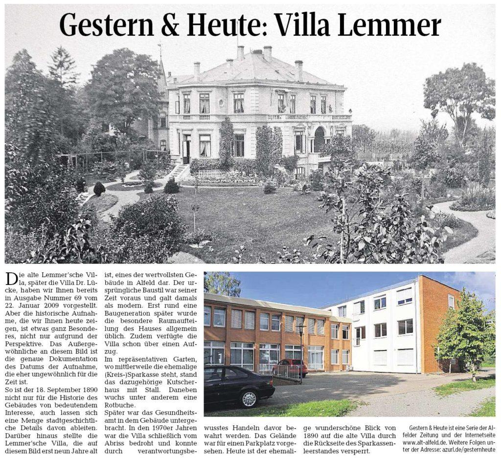 AZ vom 23.06.2016-gestern+heute-Villa Lemmer