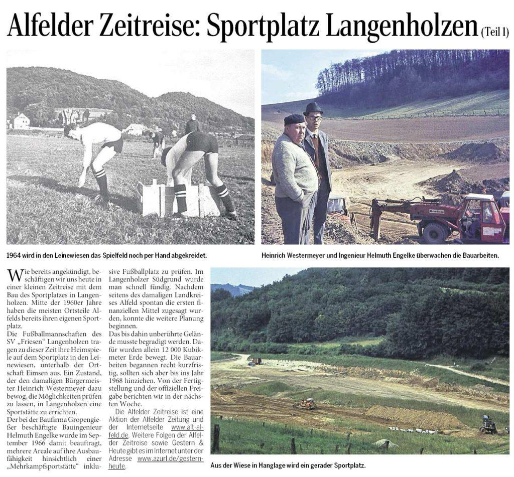 AZ vom 28.04.2016-Alfelder Zeitreise-Sportplatz Langenholzen Teil 1