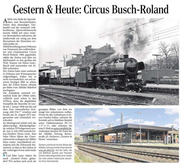 AZ vom 28.05.2015-gestern+heute-Circus Busch-Roland