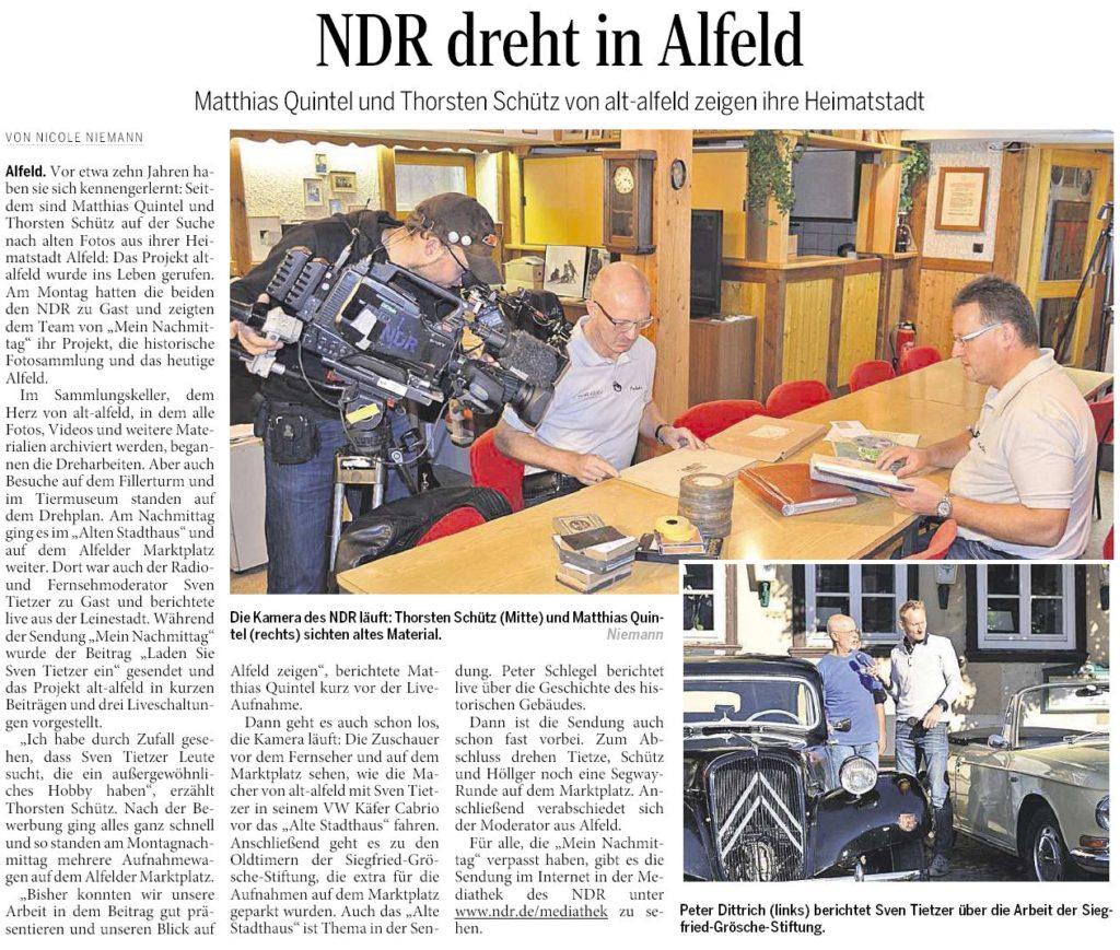AZ vom 29.09.2015-alt-alfeld-NDR-Dreh MeinNachmittag-Tietzer kommt