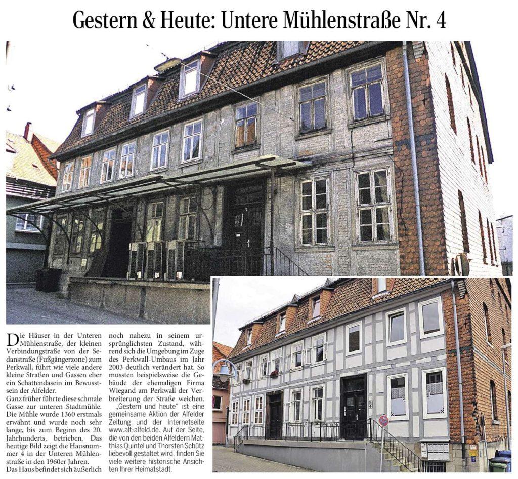 AZ vom 31.07.2014-gestern+heute-Untere Mühlenstraße