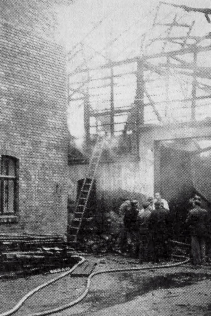 Die Strohmeyersche Scheune in Alfeld brannte ab. Das war einer von vier mysteriösen Scheunenbränden