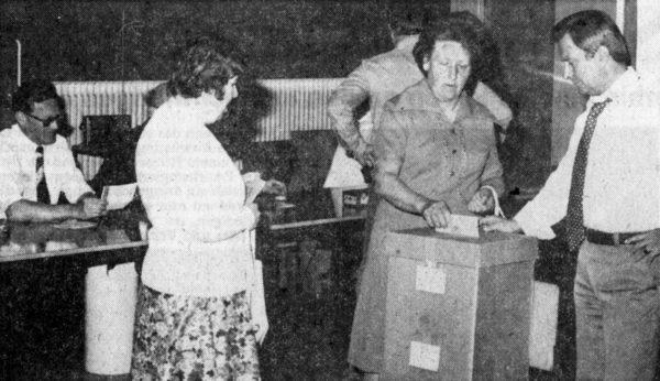 JUNI: 78,07 Prozent der Alfelder Bürger gaben Ihr Stimme bel der ersten DIrektwahl für das EuropaParlament ab