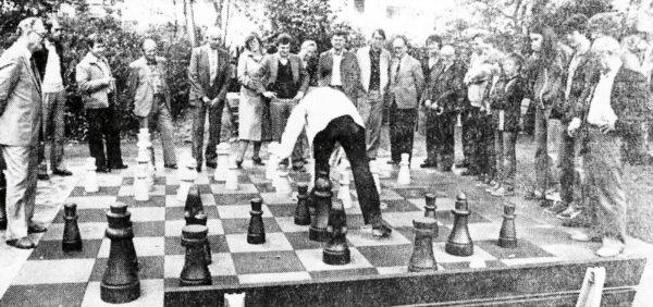Ein Freiluft-Schachspiel wurde in den Alfelder Anlagen seiner Bestimmung übergeben