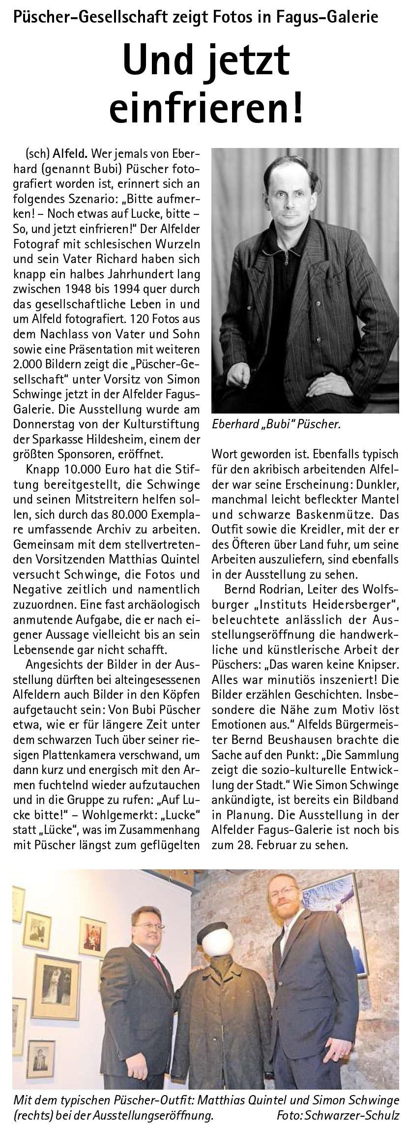 Kehrwieder vom 15.12.2013-VfH-Püscher-Ausstellungseröffnung