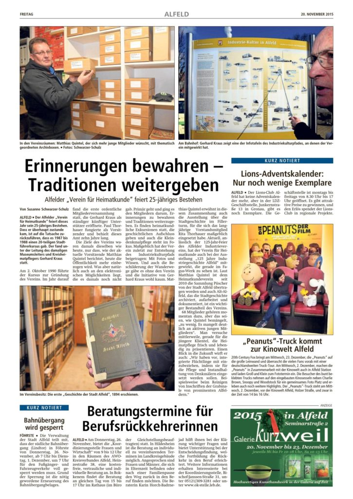 LDZ vom 20.11.2015-VfH-25jähriges Vereinsjubiläum